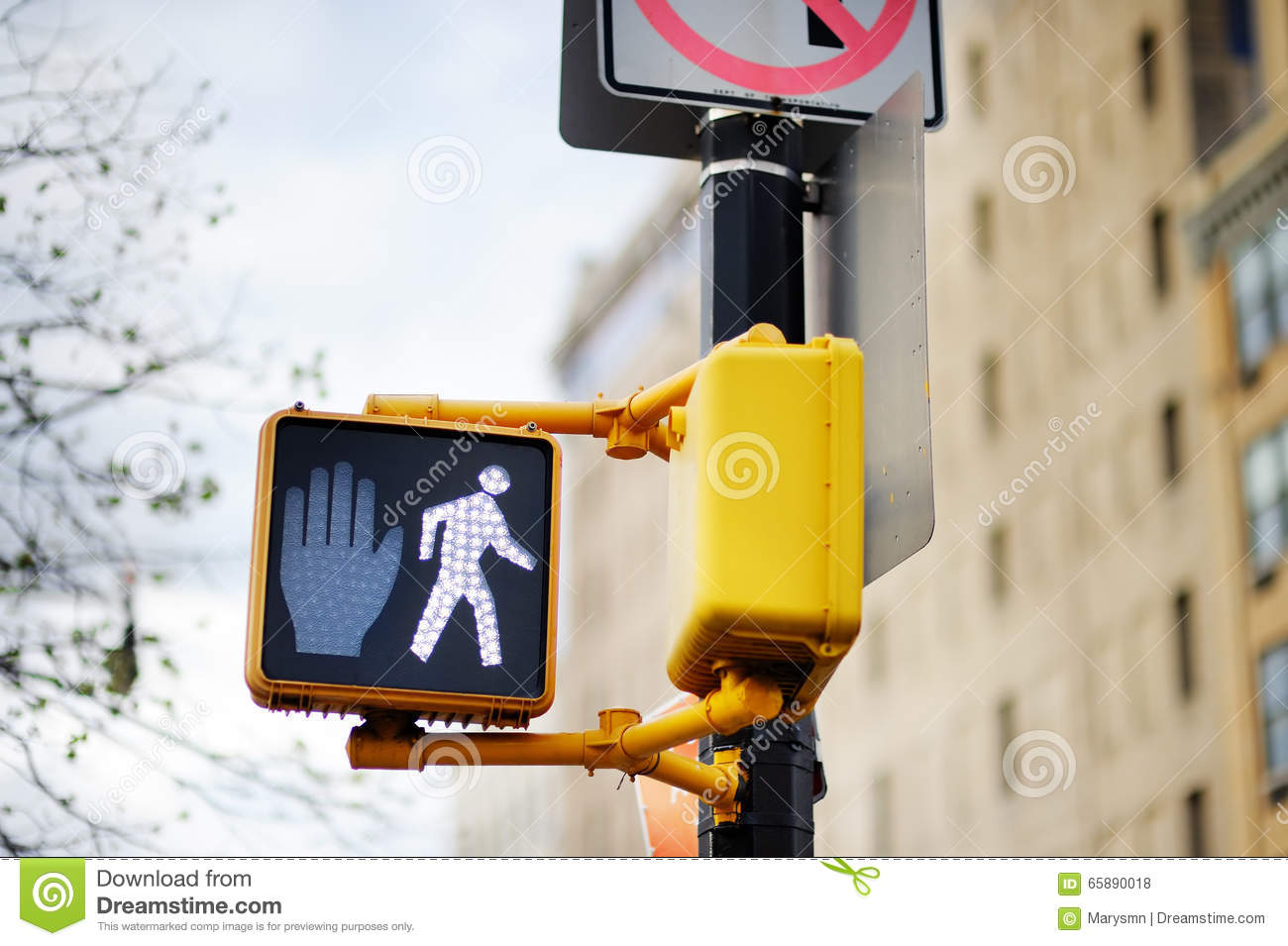 Don t walk New York traffic sign