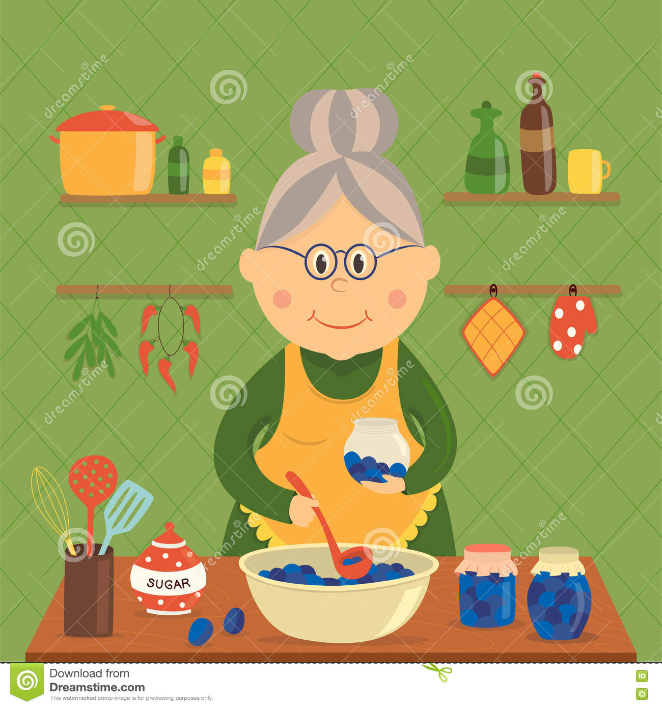 Dona de casa Cooking Jam Design
