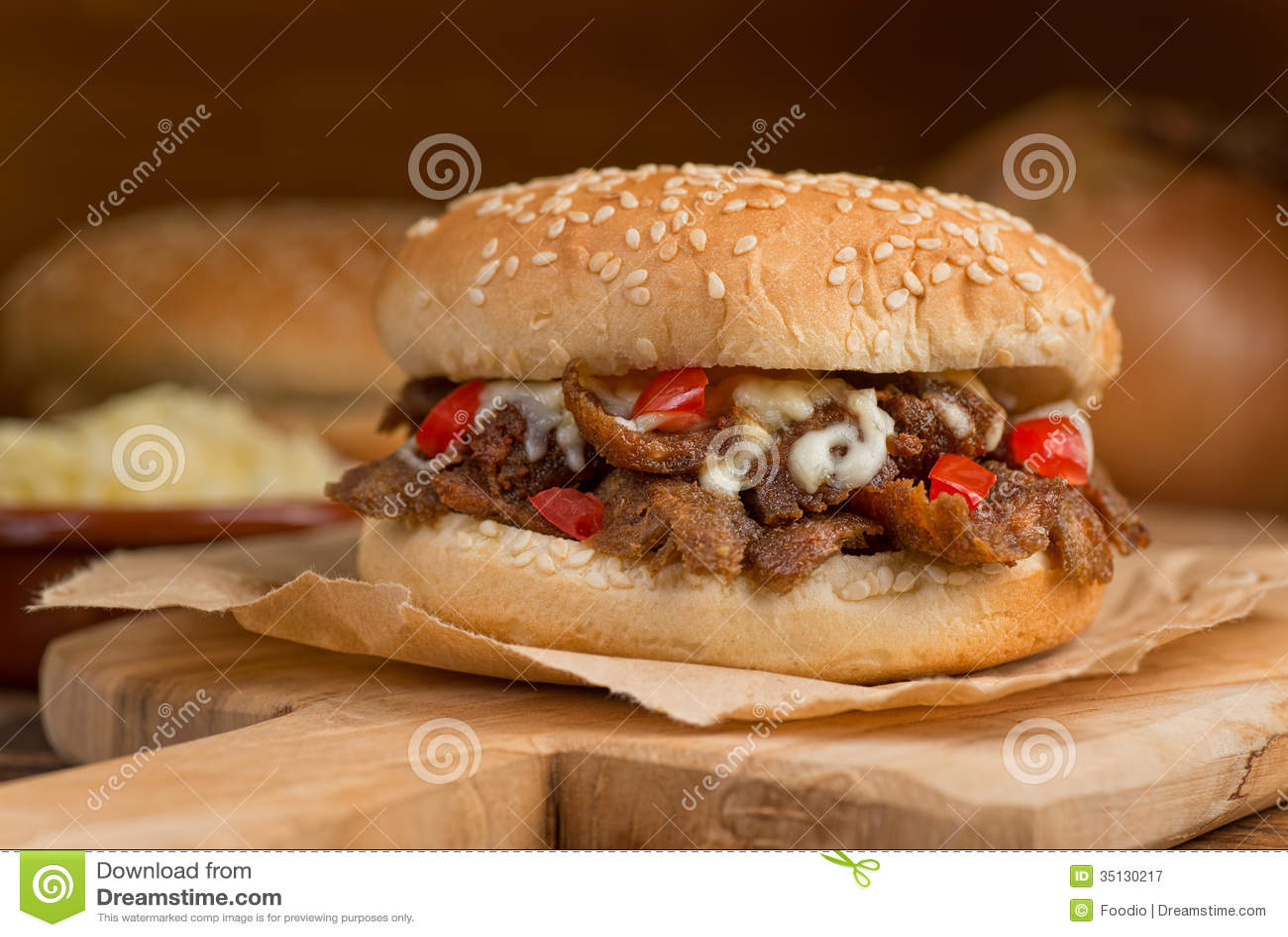 Donair hamburger