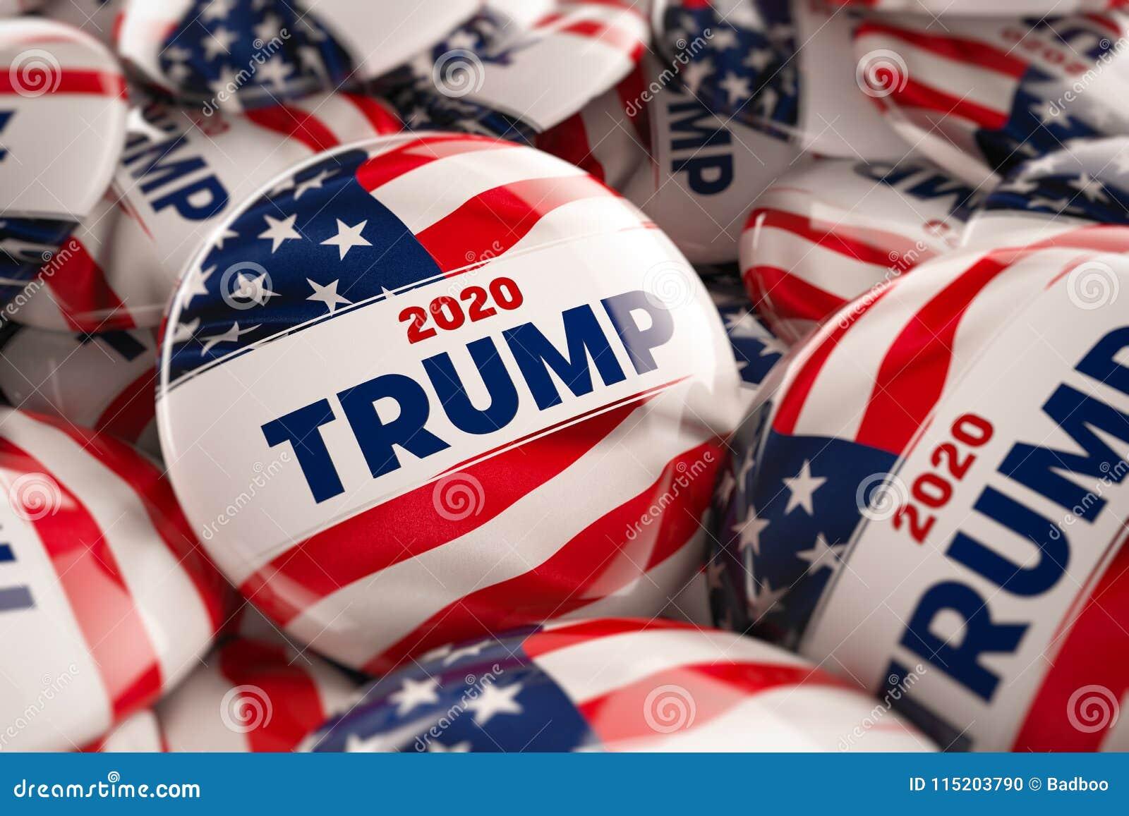 Donald Trump 2020 botões da campanha