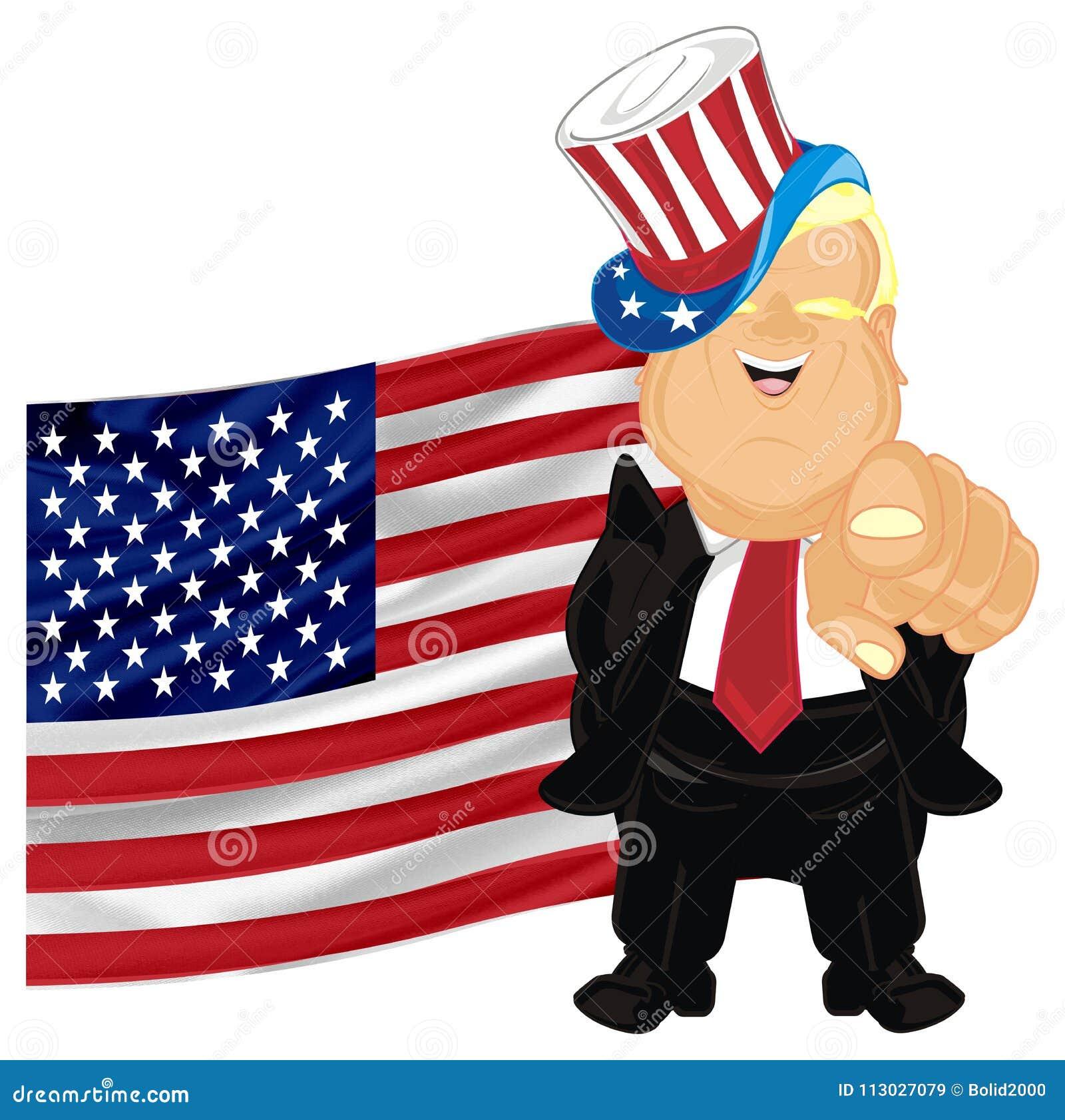 Donald Trump de las muestras de los E.E.U.U.