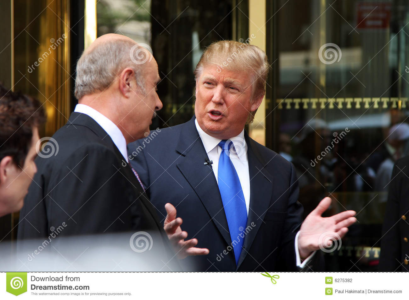 ... in front of Trump Tower in New York City with Donald Trump & Dr. Phil