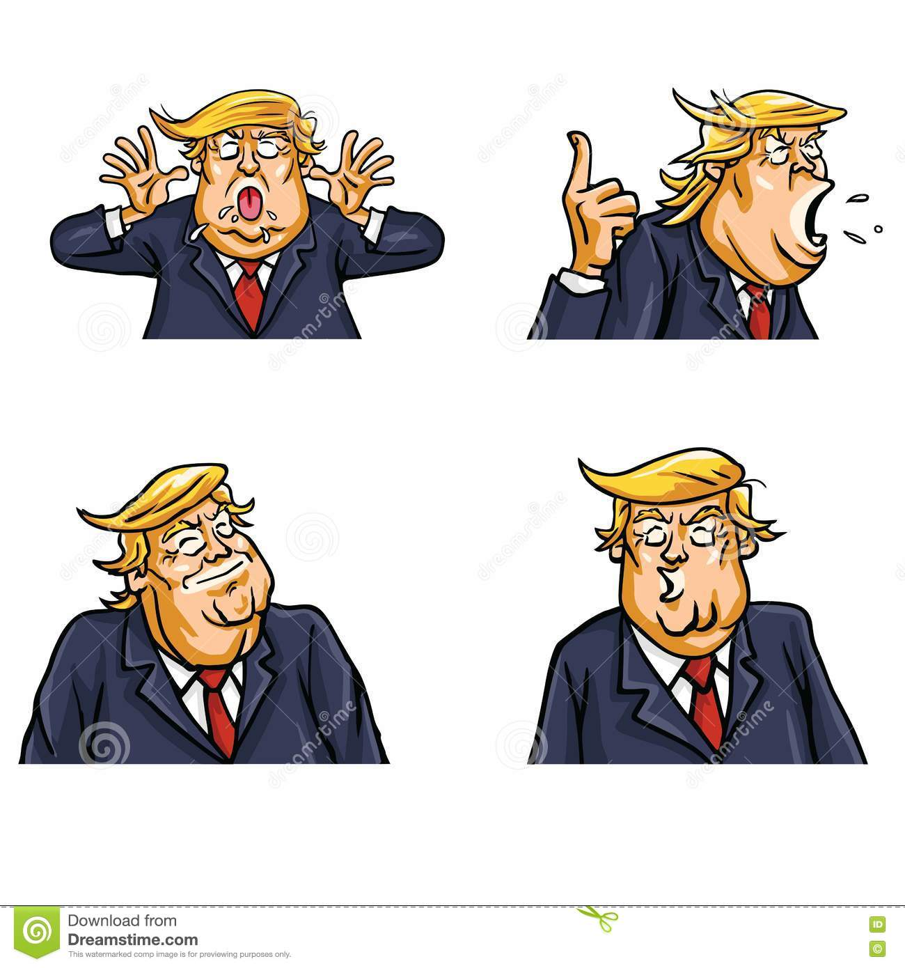 Donald Trump Face Expressions Set Pack