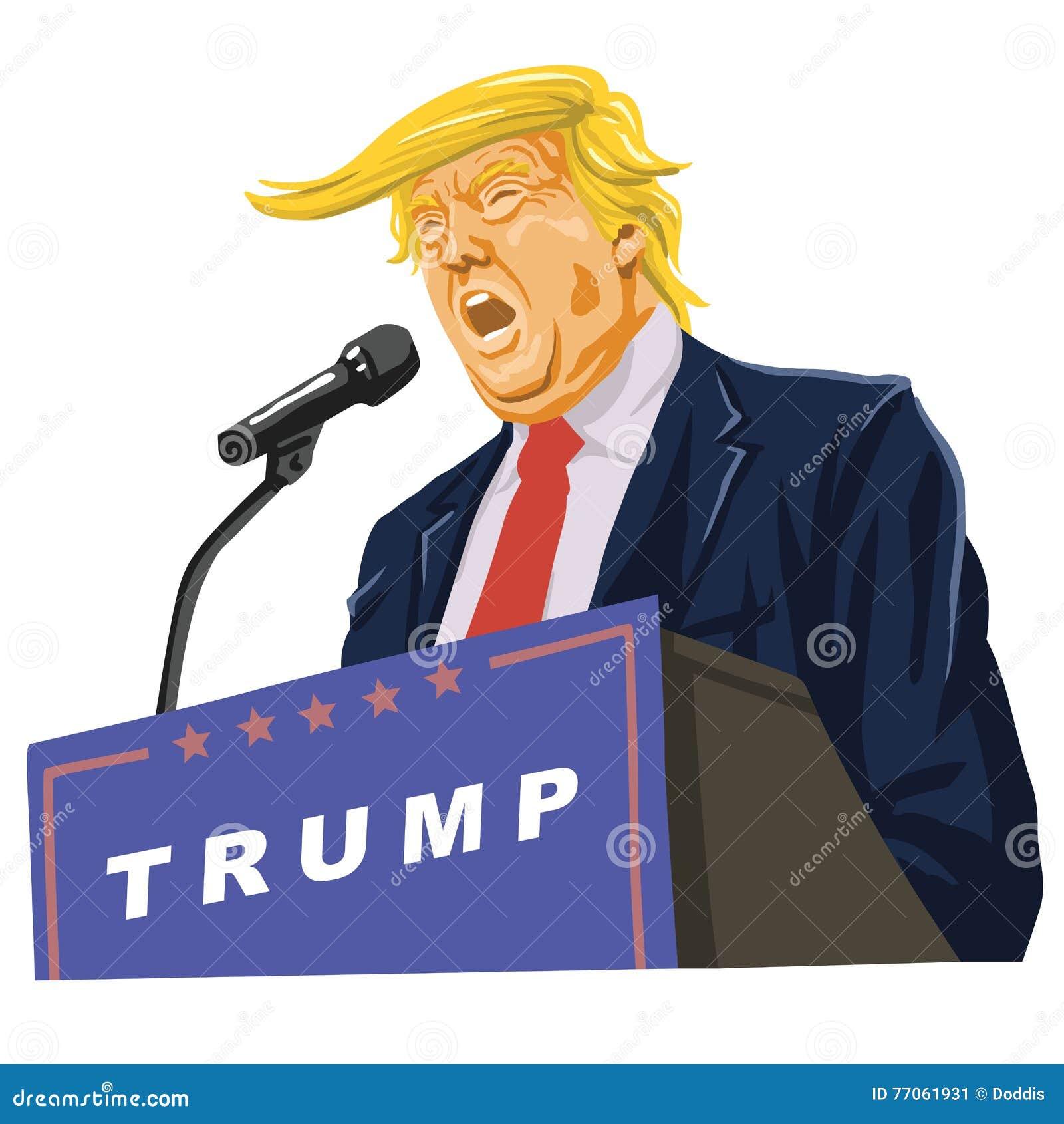 Donald Trump Giving um discurso