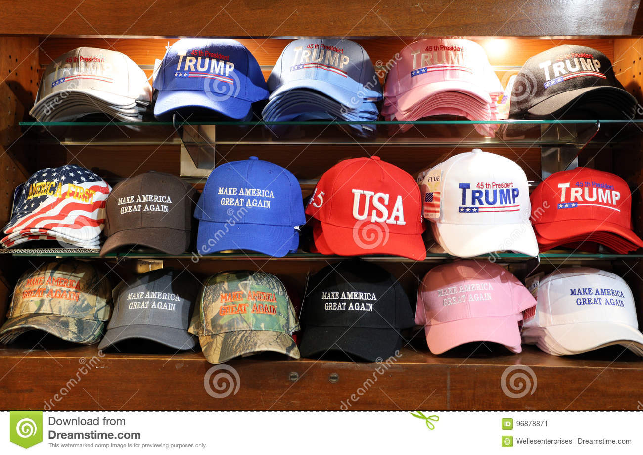 ccf9042372a Donald Trump Make America Great Again Hat Editorial Photo - Image of ...