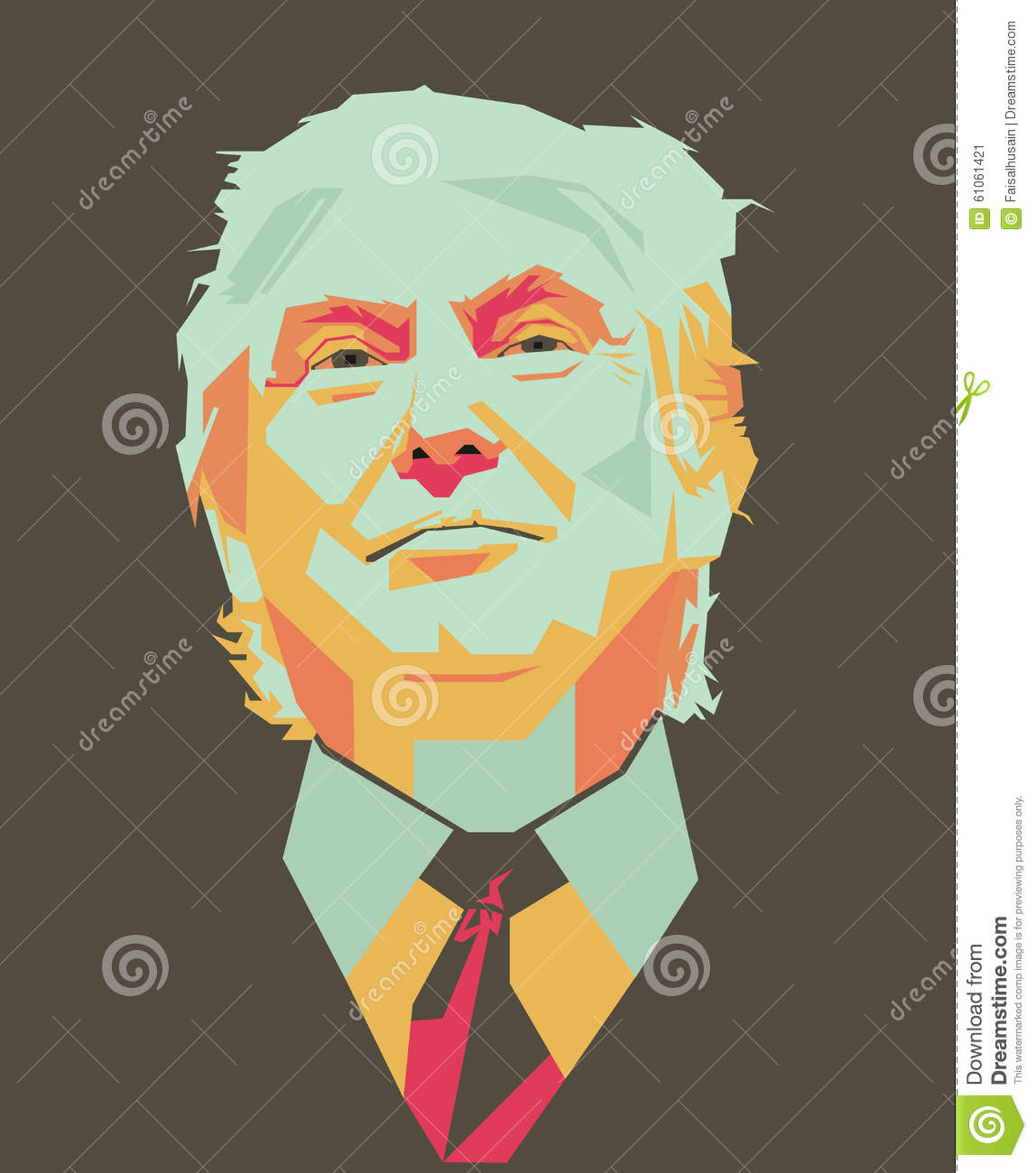 Donald Trump Vector Editorial Photo - Image: 61061421