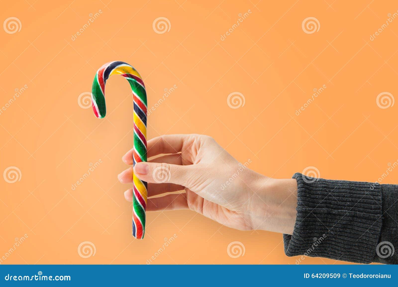 Donante de un bastón de caramelo
