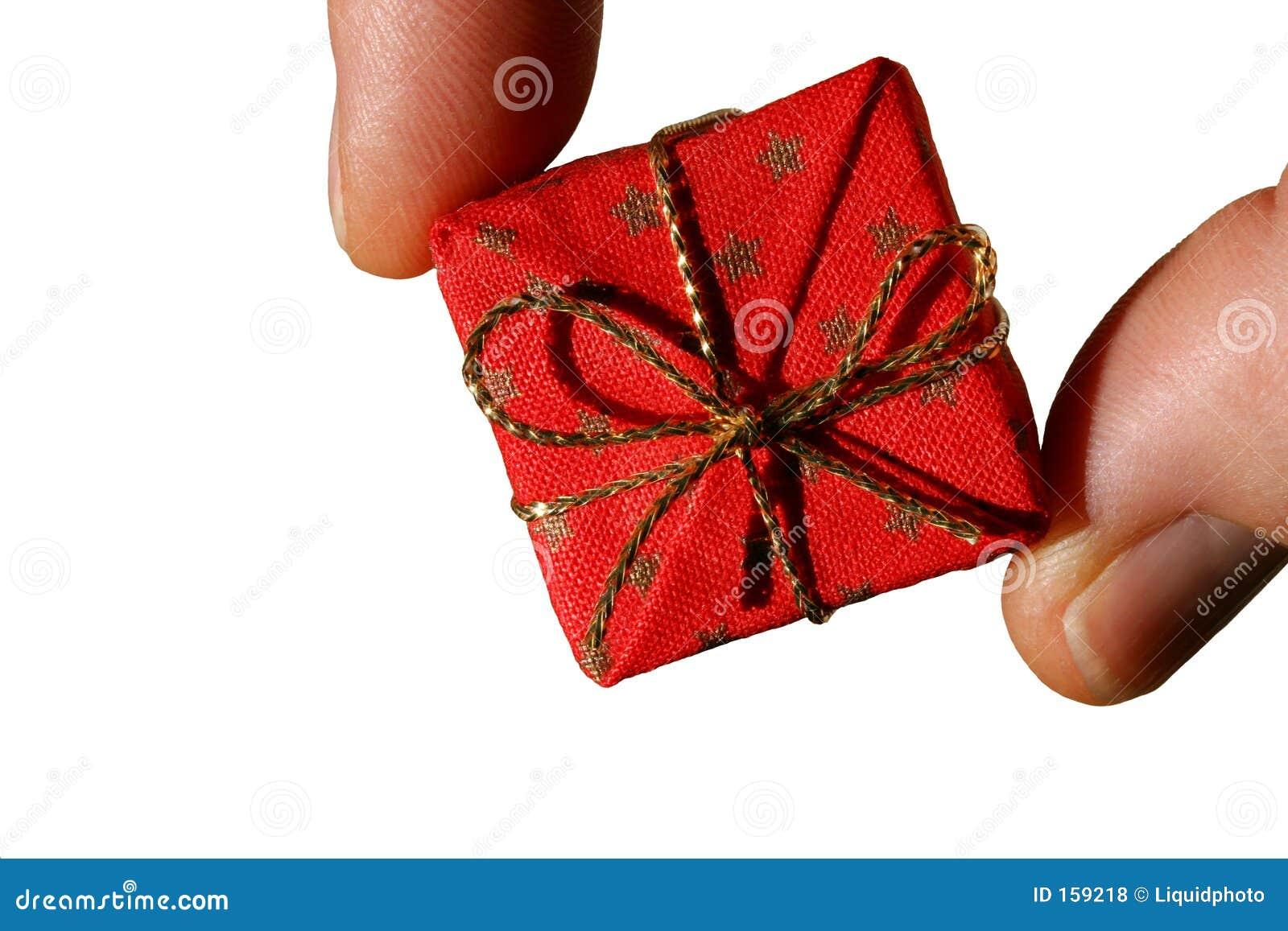 Donante del regalo aislado