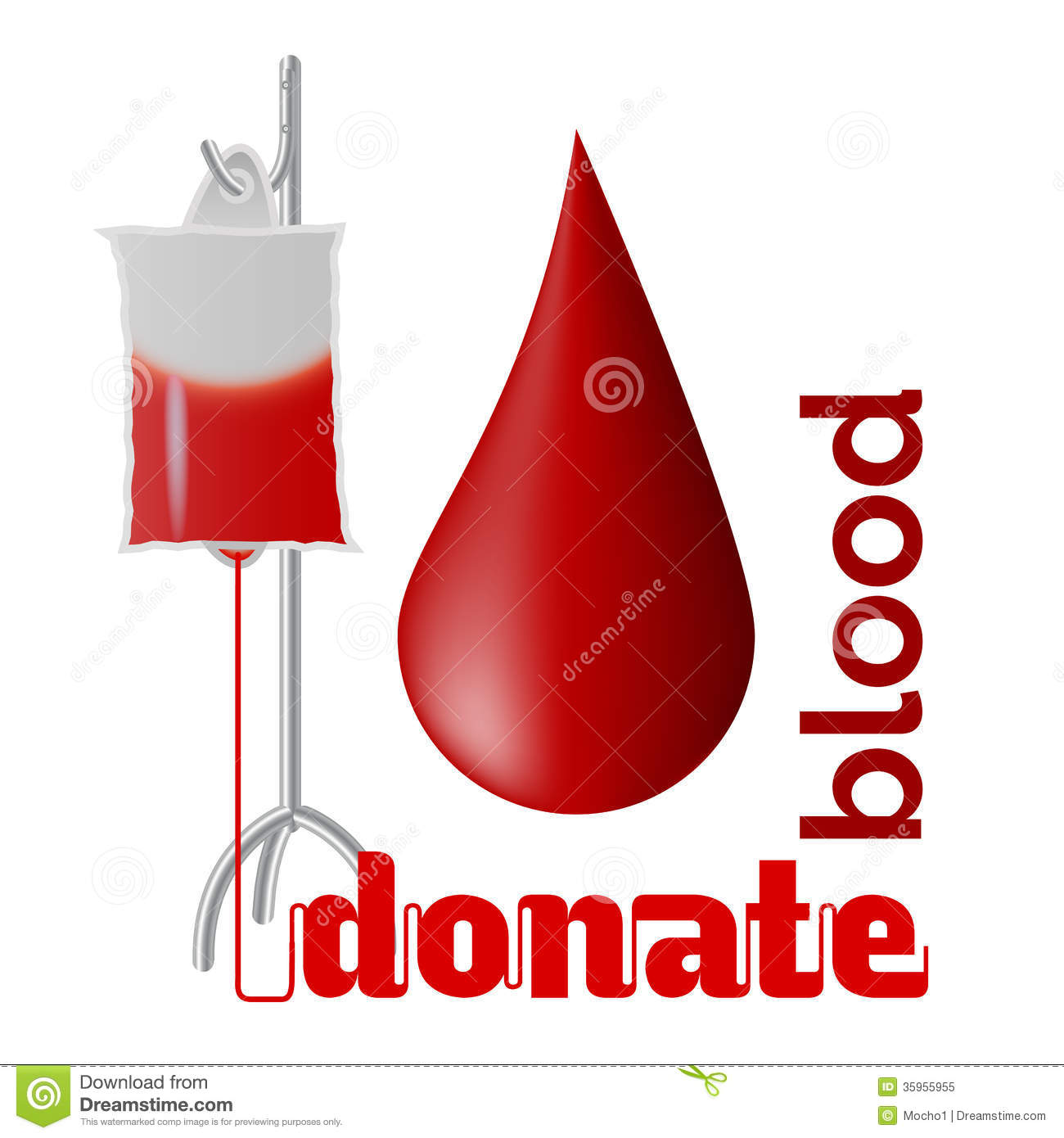 ... blood - blood donation concept with blood drop and bag of blood