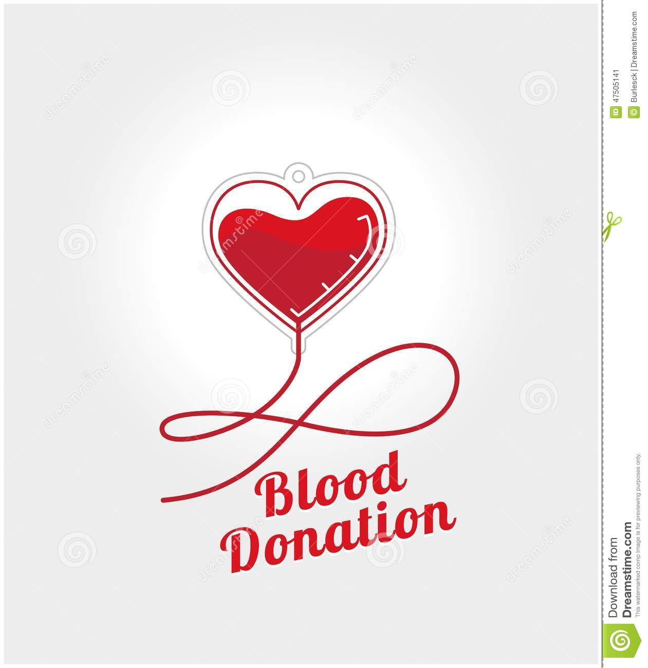 Poster design on blood donation - Donate Blood Logo Stock Image