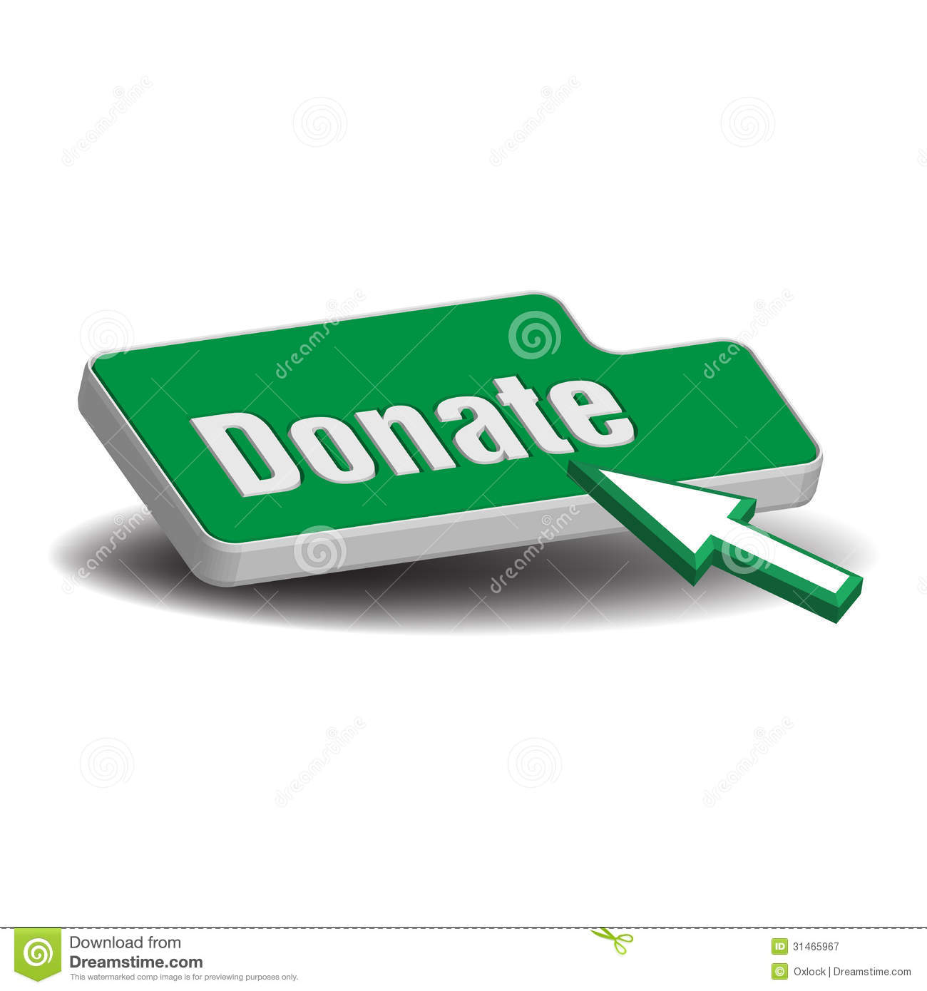 donate button royalty free stock photography image 31465967