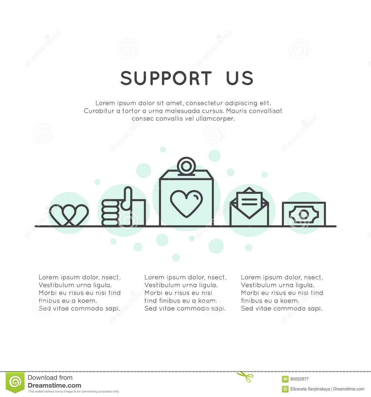Donation Button And Support Slogan Donate For Project And Developers Send Money To Help Stock Illustration Illustration Of Merchandise Button 85052877