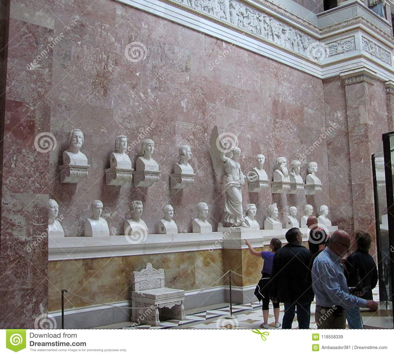Many stairs - Picture of Walhalla Temple, Donaustauf ... |Inside Walhalla Memorial