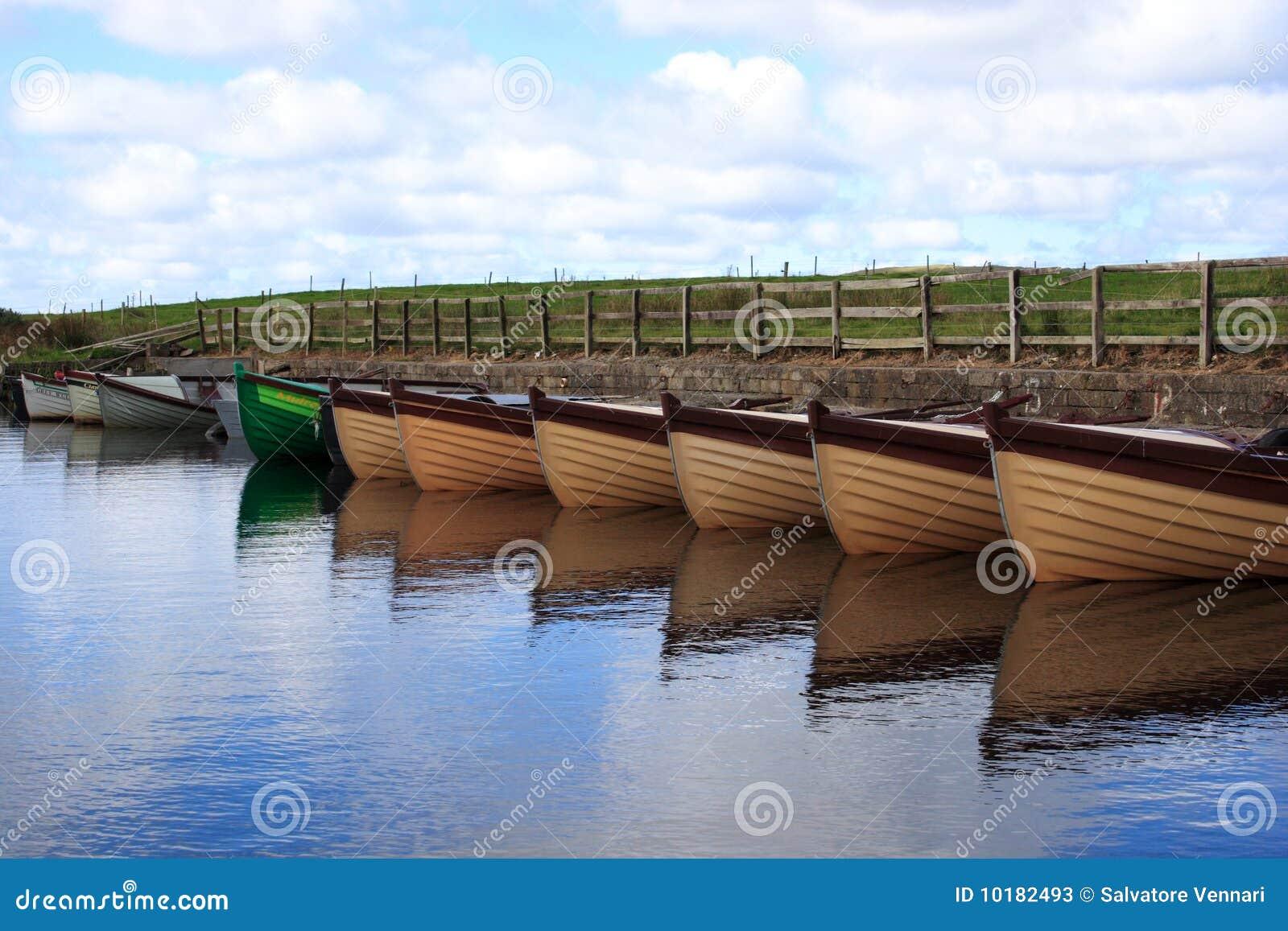 Donegal Ιρλανδία βαρκών πρόσδεση