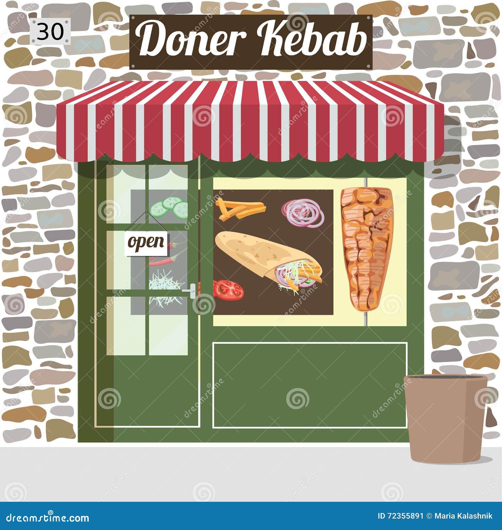 Doner kebab快餐咖啡馆