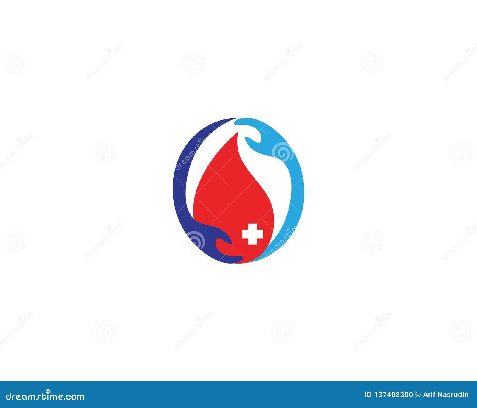 Donera blodsymbolen med medicinsk design