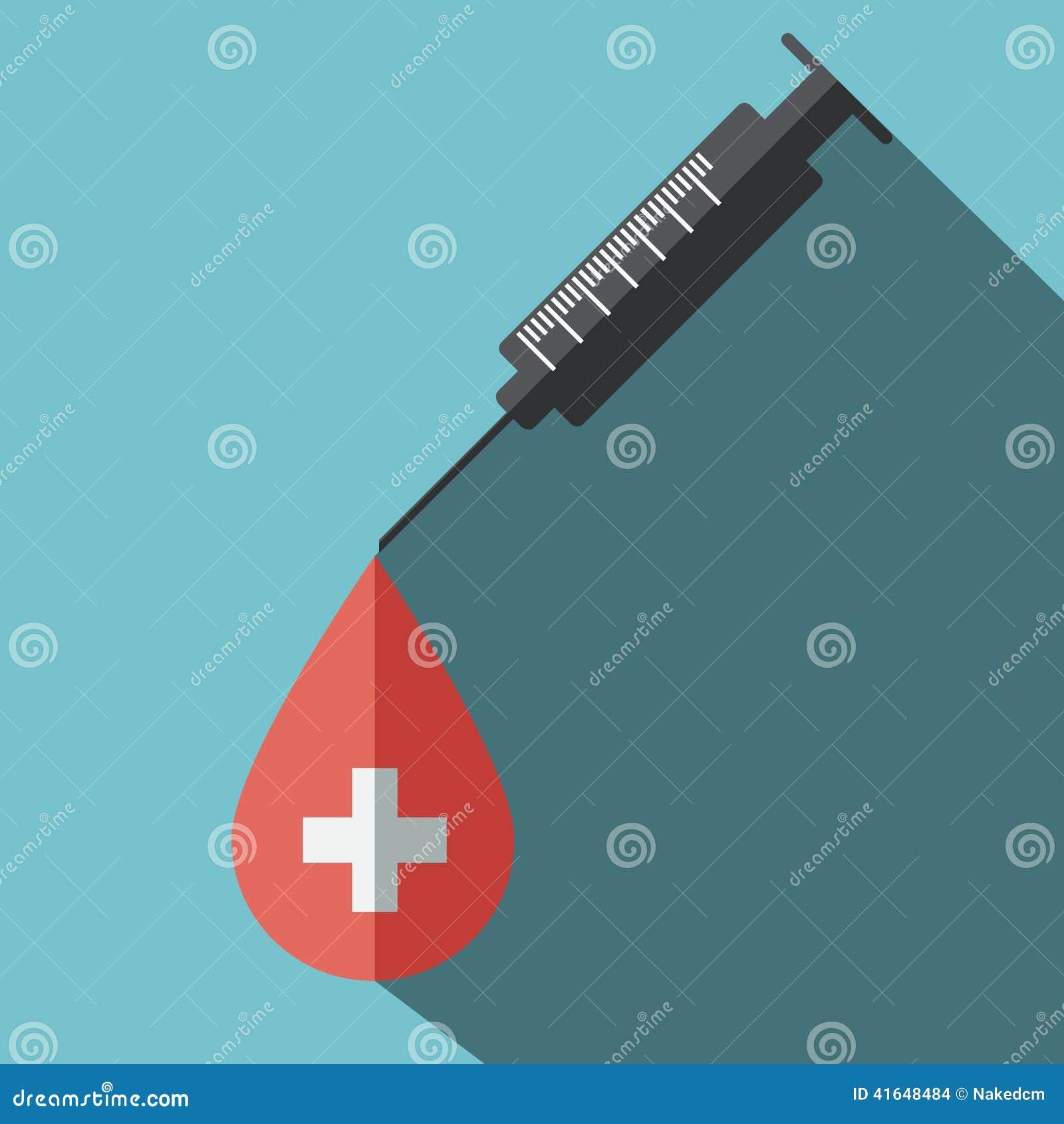 Donera den plana symbolen för blod