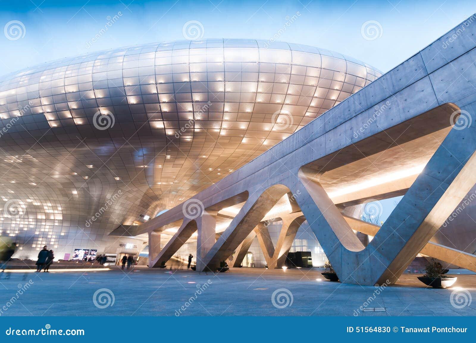 Dongdaemun design plaza editorial image image of famous for Modern house design korea