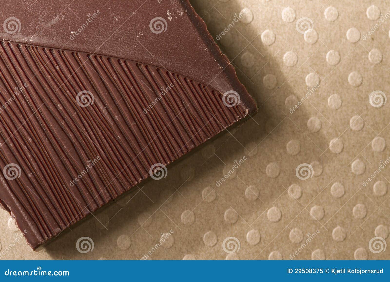 Donker chocoladestuk