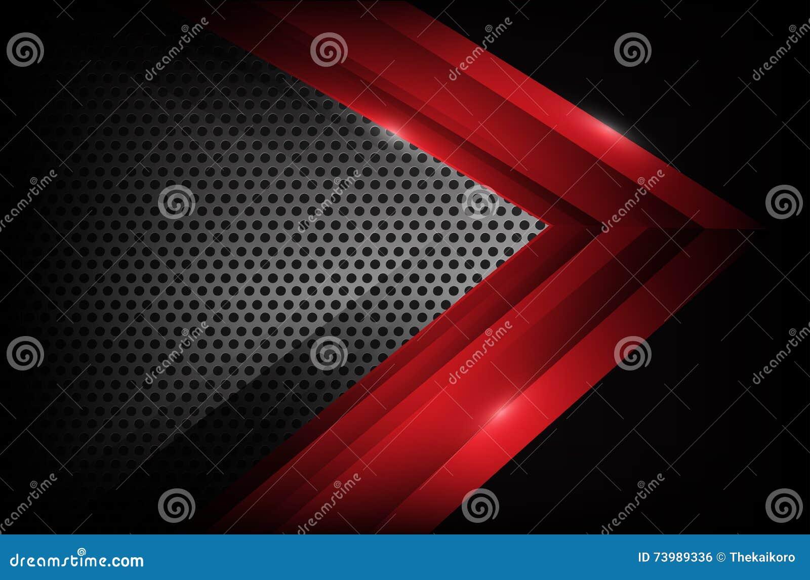 Donker chroomstaal en de rode abstracte achtergrond ve van het overlappingselement