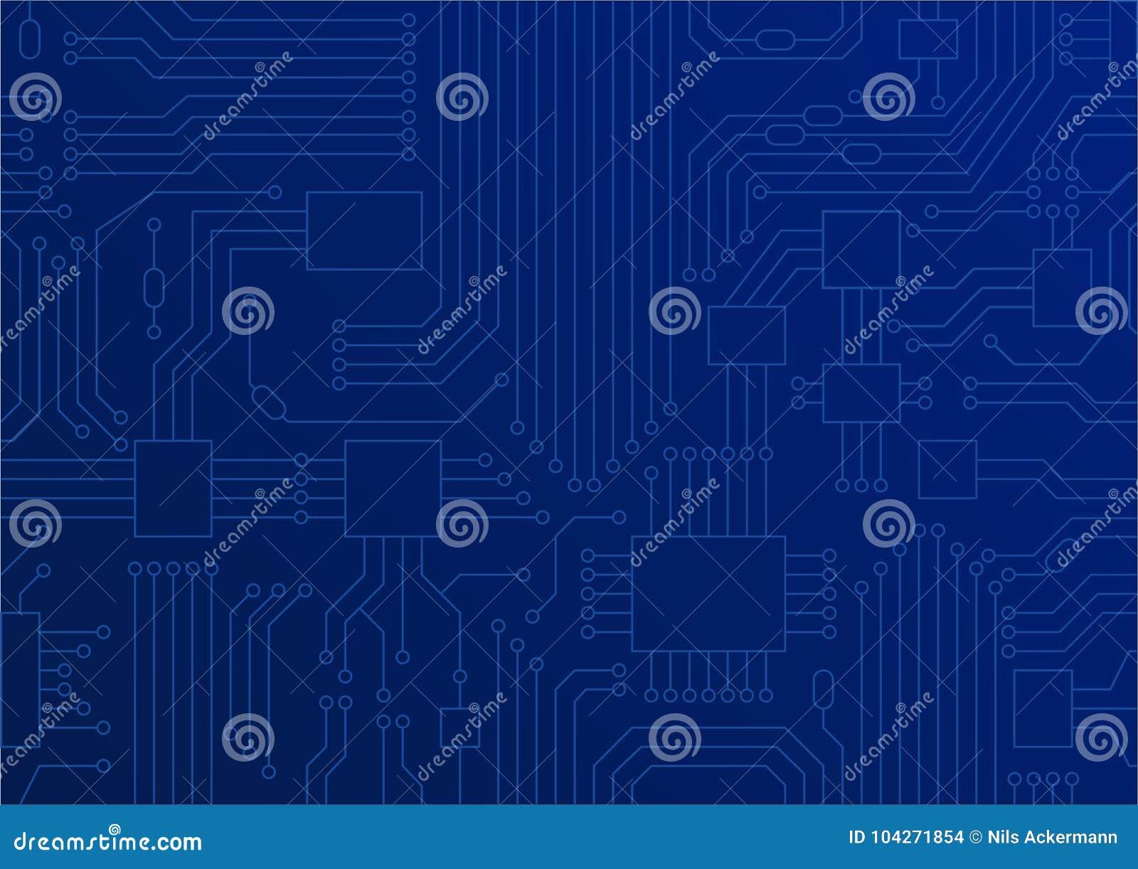 Donkerblauwe illustratie van kringsraad/dichte omhooggaand van cpu als concept voor digitale transformatie