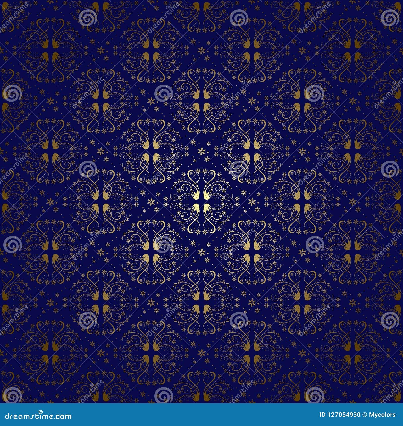Donkerblauwe uitstekende achtergrond met gradiënt - vector