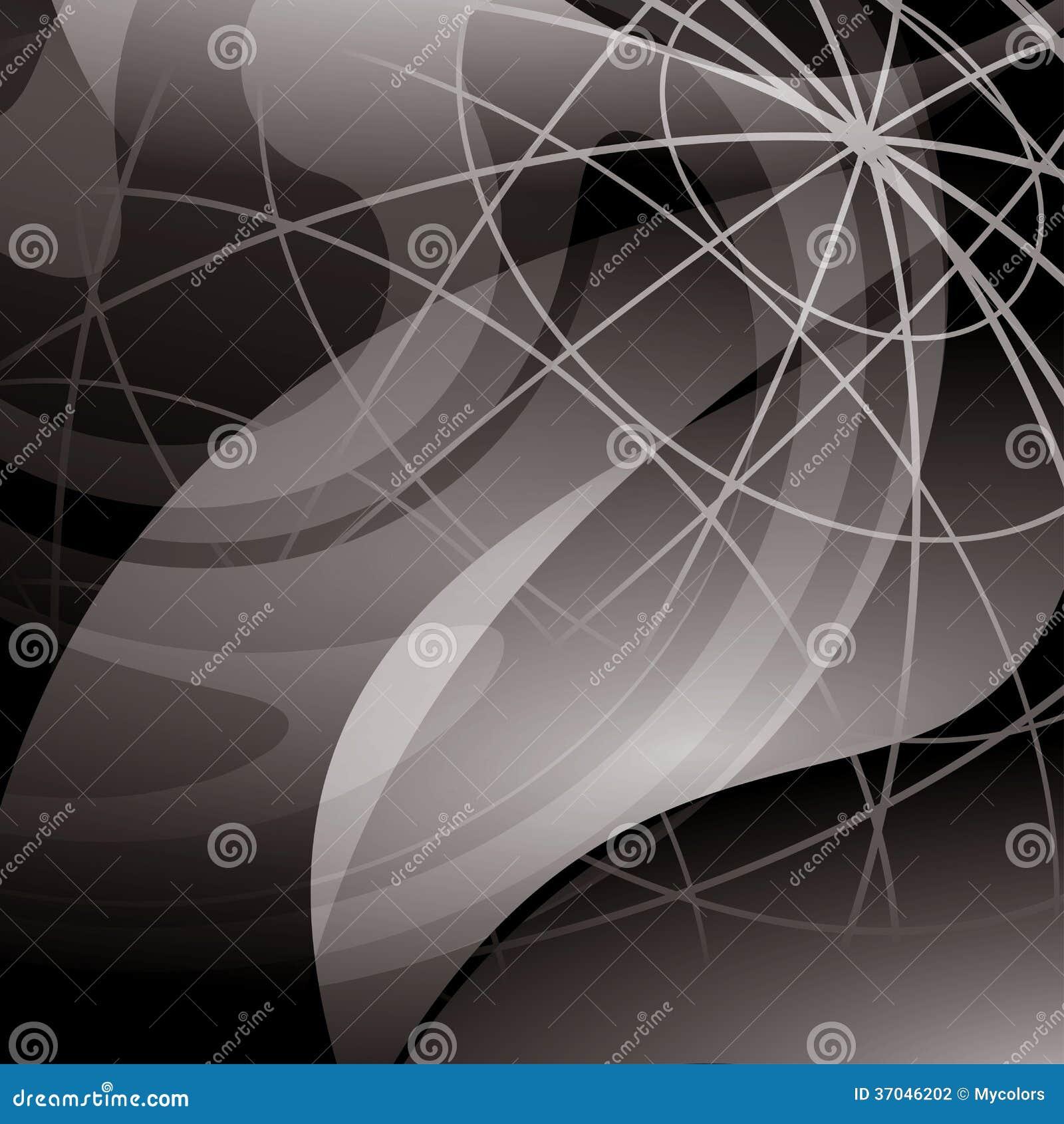 Donkere abstracte achtergrond met meridianen - eps 10