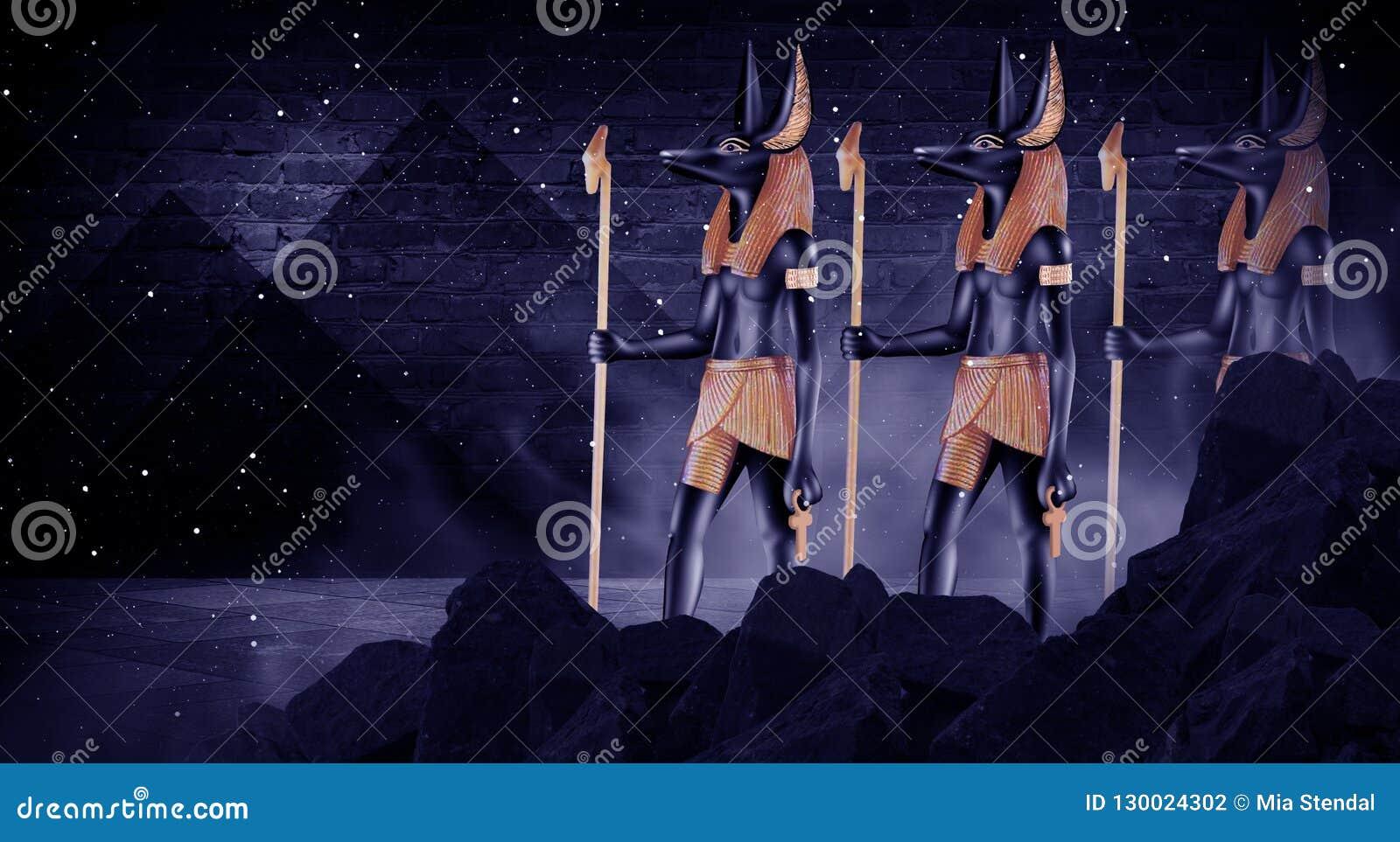 Donkere abstracte Egyptische achtergrond