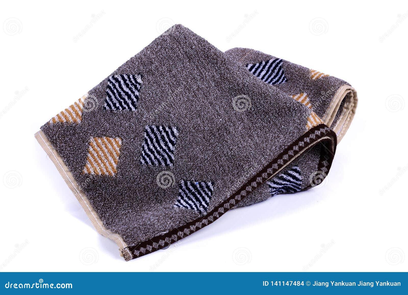 Donkere handdoek met witte achtergrond
