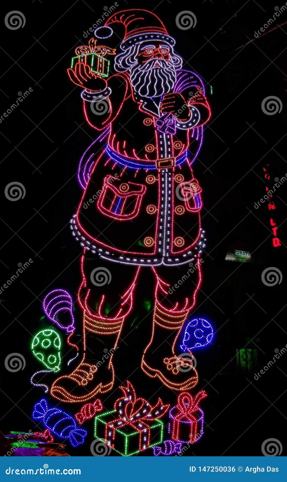 Donkere Santa Claus-verlichting