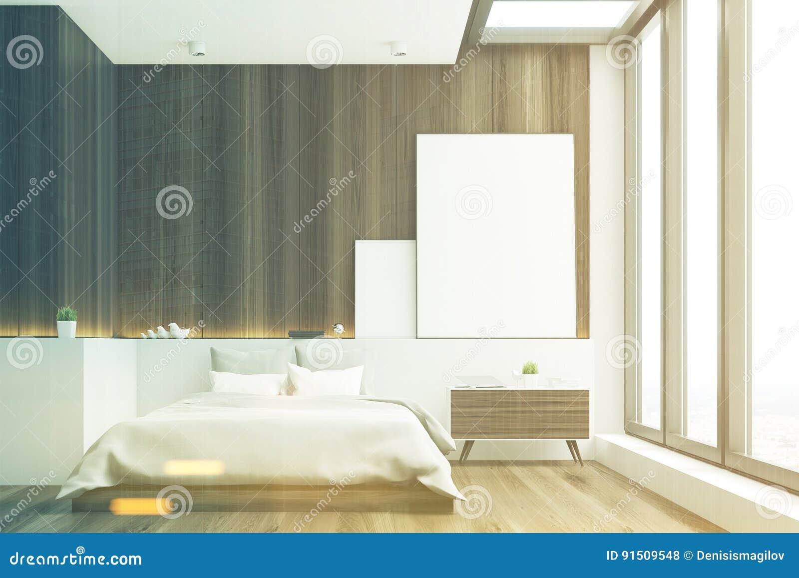 donkere slaapkamer hout gestemde voorzijde stock illustratie afbeelding 91509548