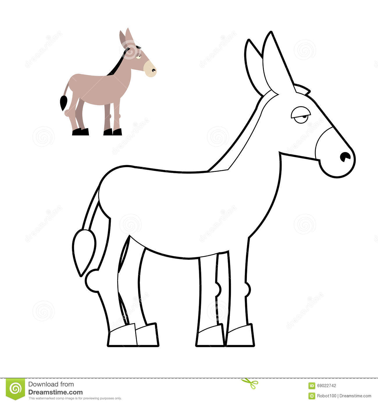 Letter d coloring pages for toddlers - Donkey Coloring Book Circuit Animal Childrens Coloring Book Wi Stock Photography