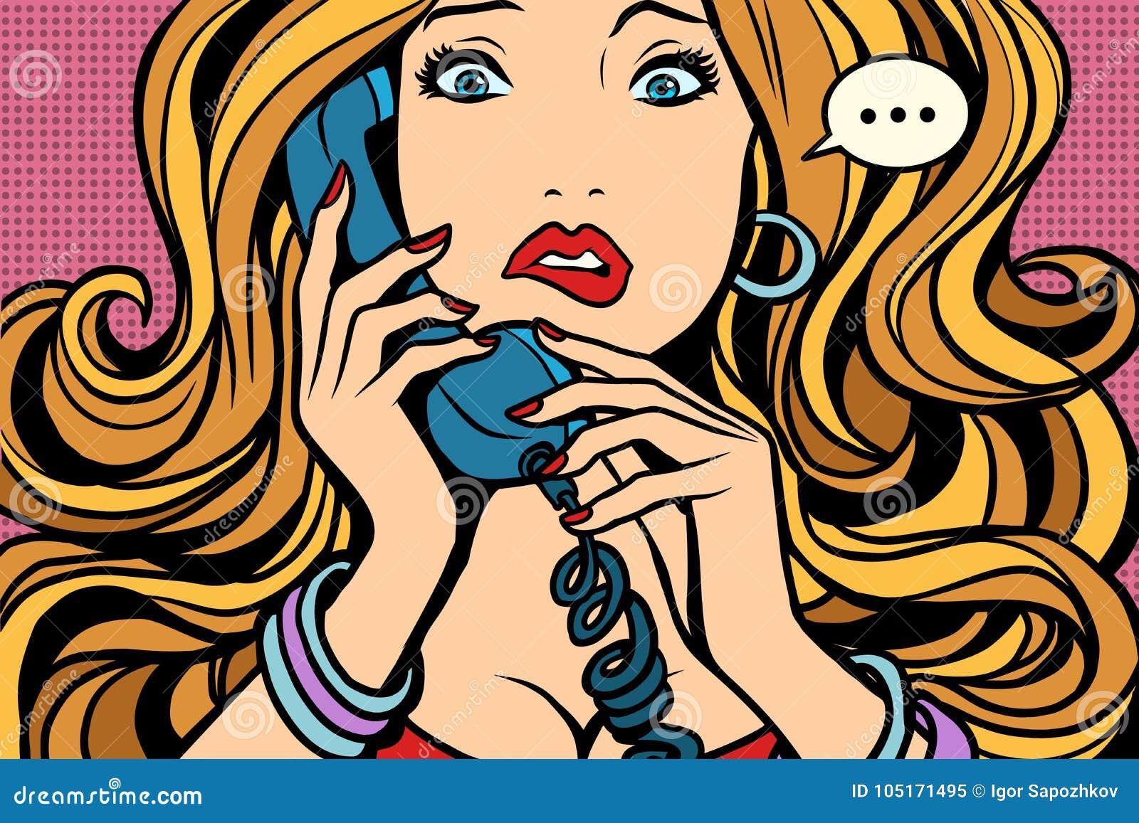 Donna, cattiva conversazione sul telefono