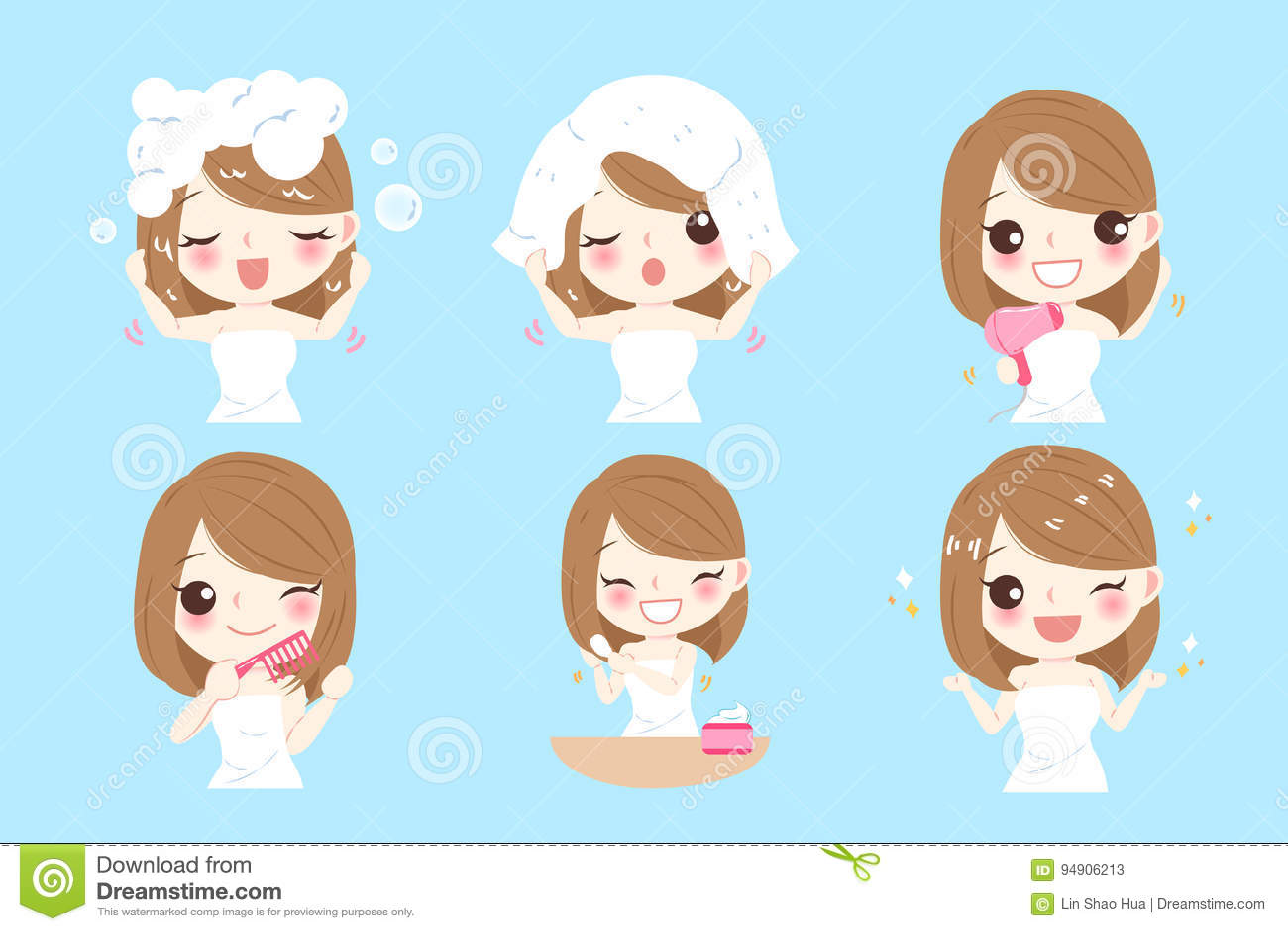 Donna con cura di capelli