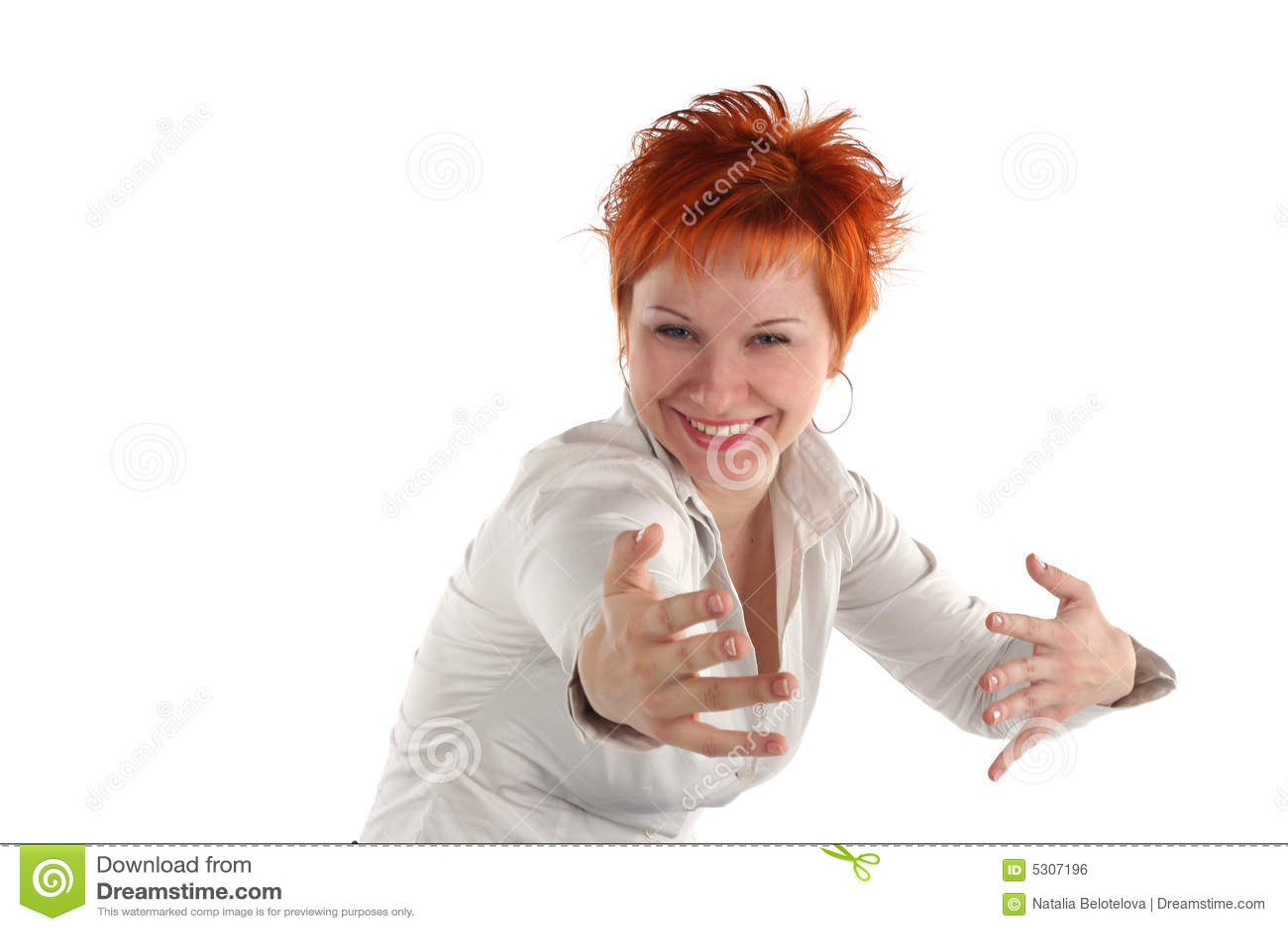 Download Donna Con Le Braccia Outstretched Fotografia Stock - Immagine di vestiti, heartfelt: 5307196