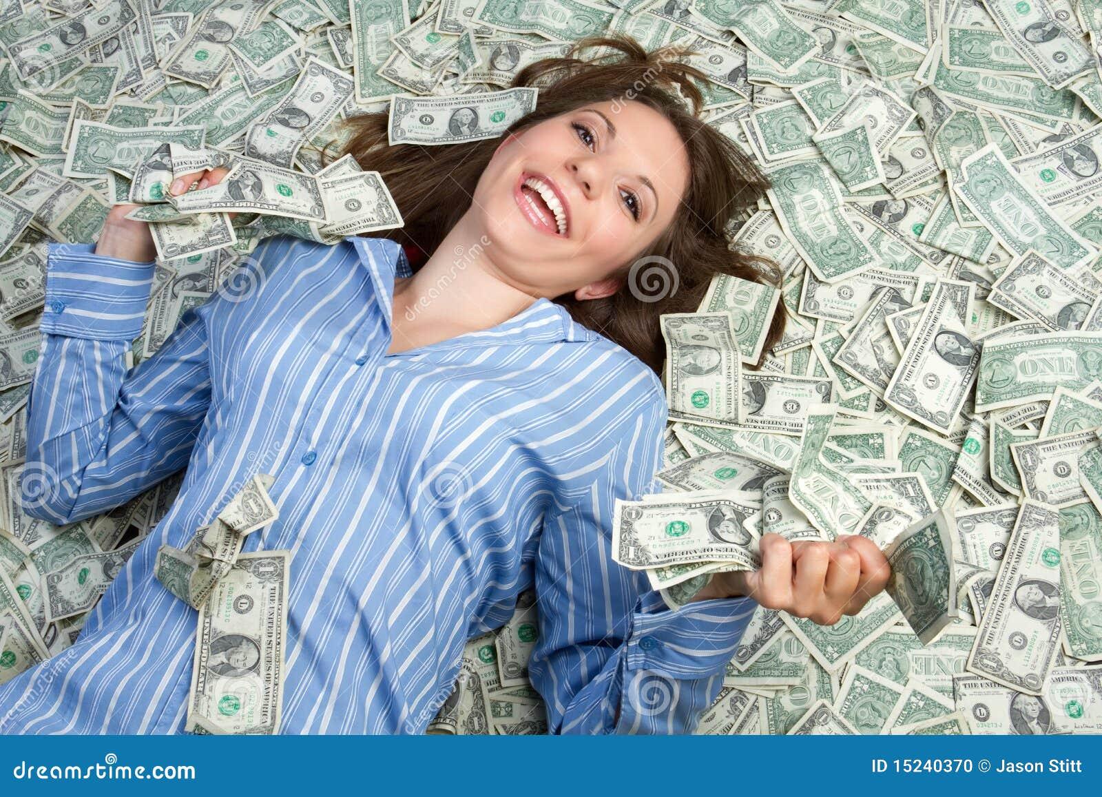 Donna dei soldi