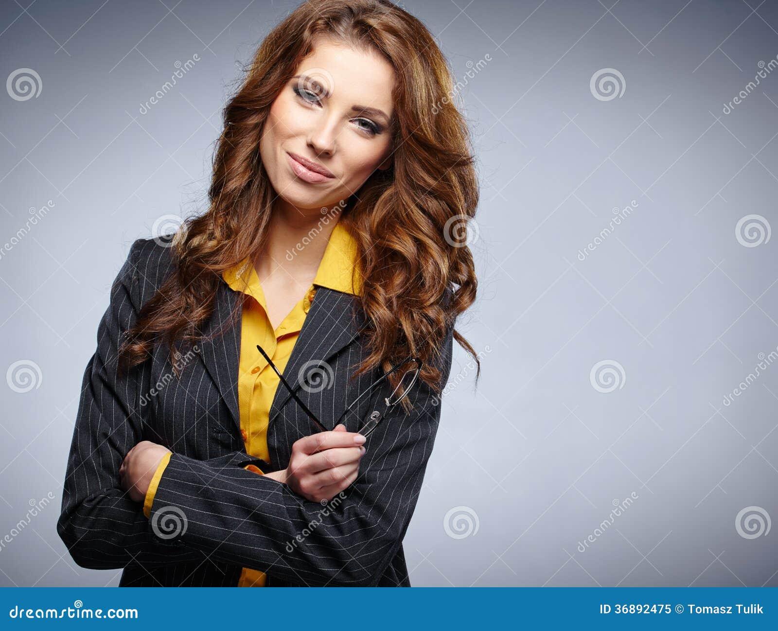 Download Donna Di Affari Con I Vetri Immagine Stock - Immagine di intelligente, carriera: 36892475