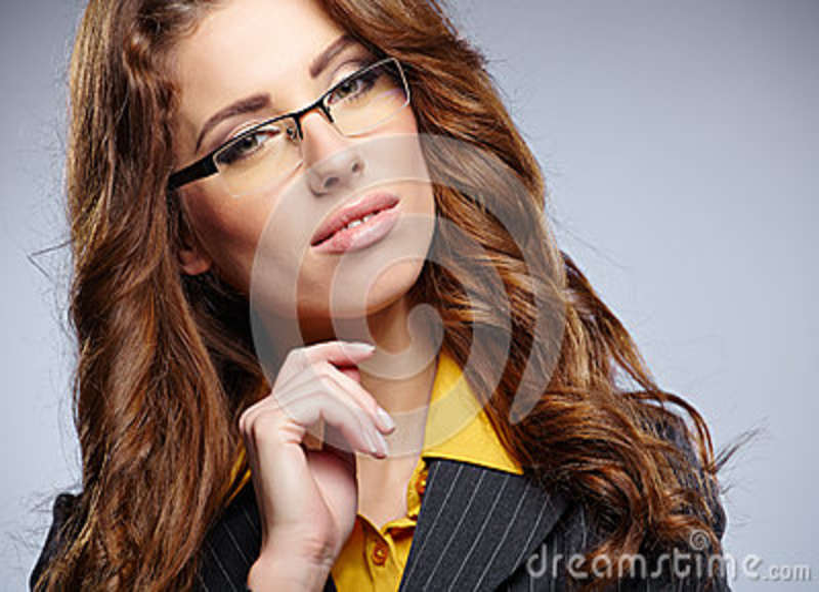 Download Donna Di Affari Con I Vetri Immagine Stock - Immagine di commercio, cheerful: 36892649
