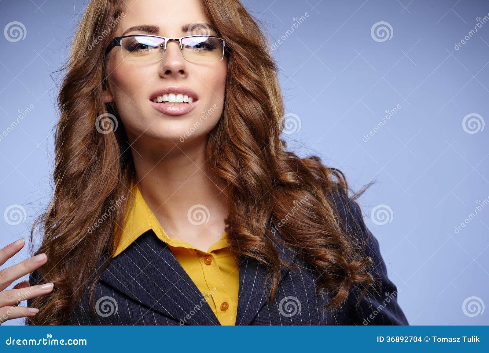 Download Donna Di Affari Con I Vetri Fotografia Stock - Immagine di people, astuto: 36892704