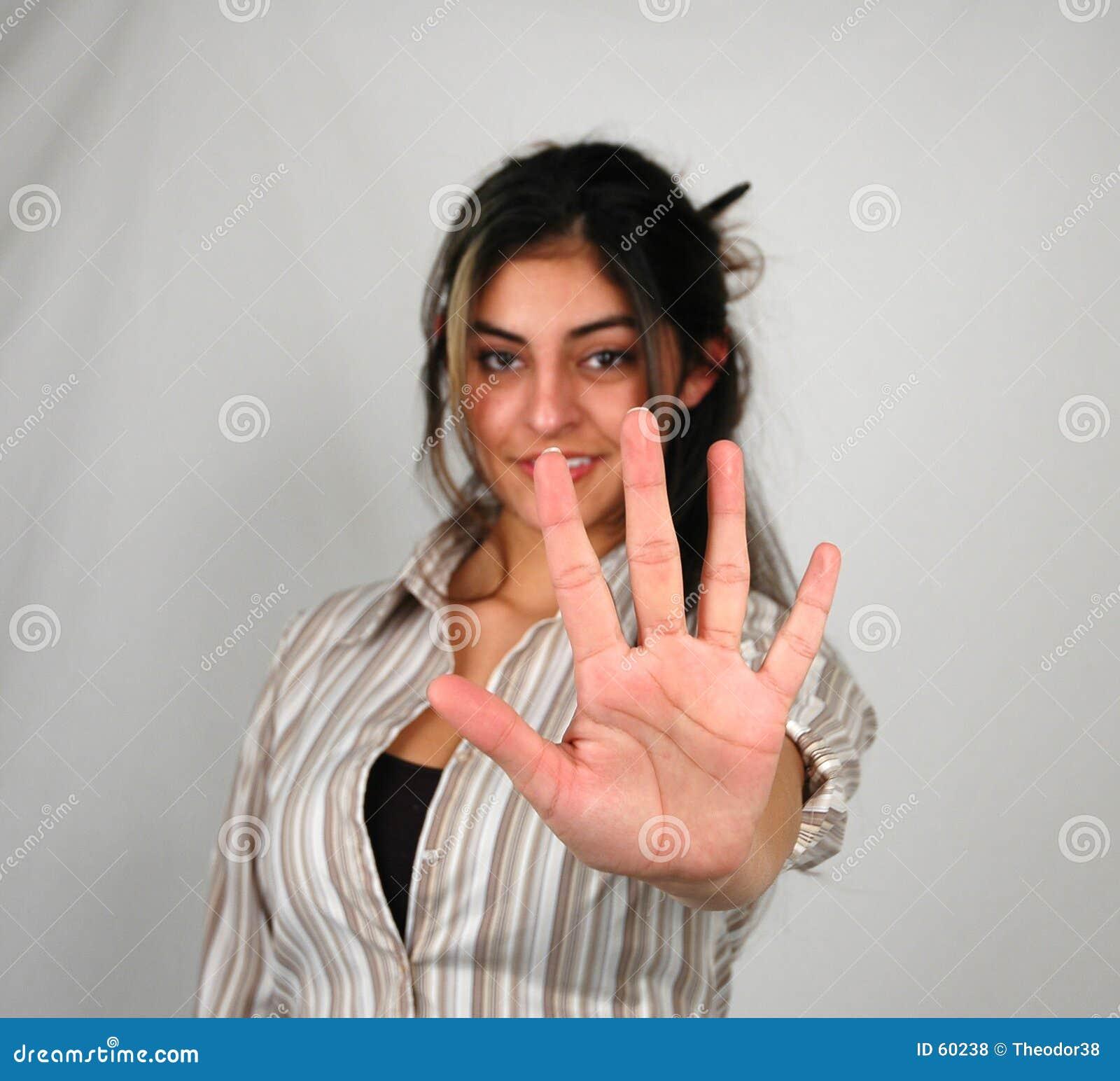 Donna di affari counting-1