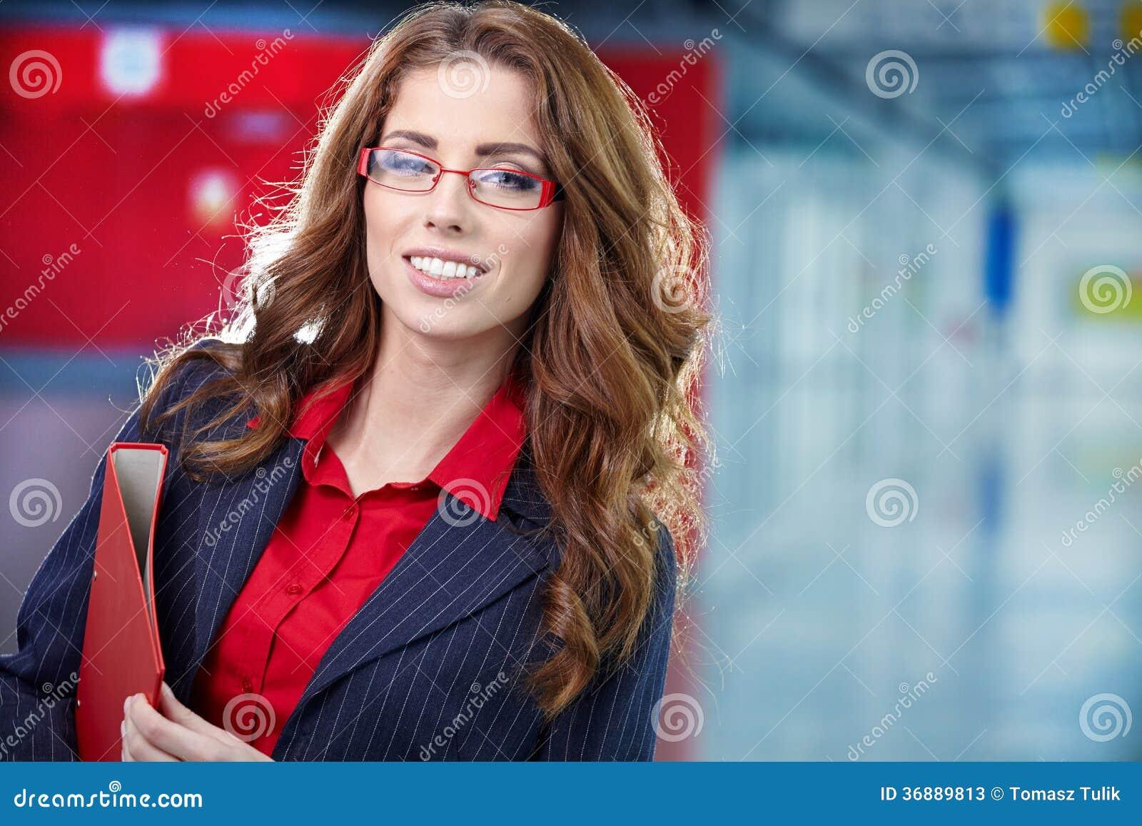 Download Donna Di Affari Nell'interno Di Vetro Immagine Stock - Immagine di vetri, finanza: 36889813