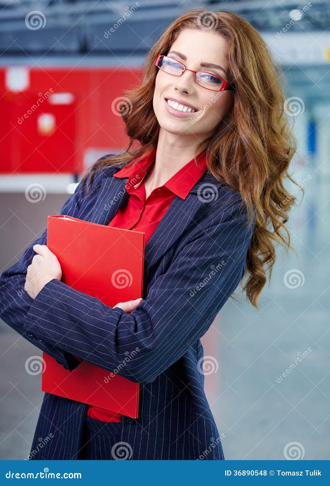 Download Donna Di Affari Nell'interno Di Vetro Fotografia Stock - Immagine di interno, commercio: 36890548