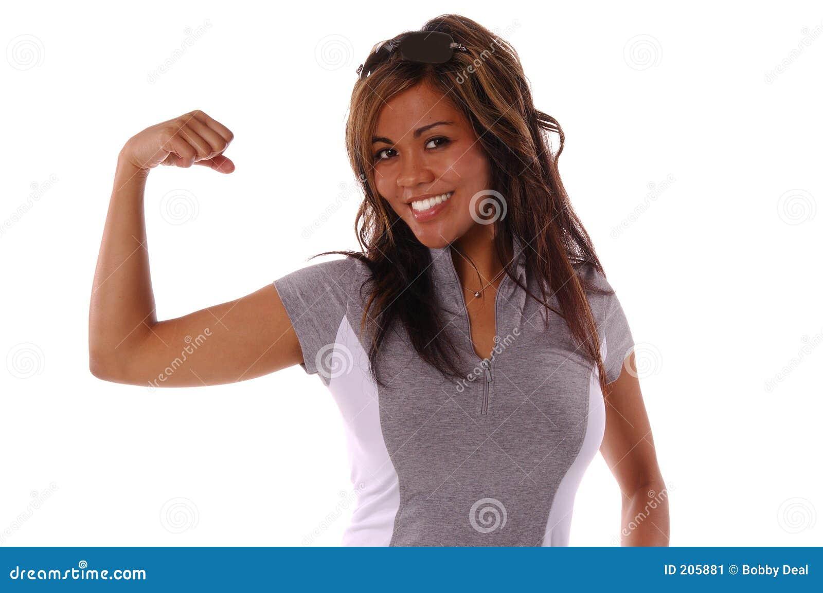 Donna di allenamento
