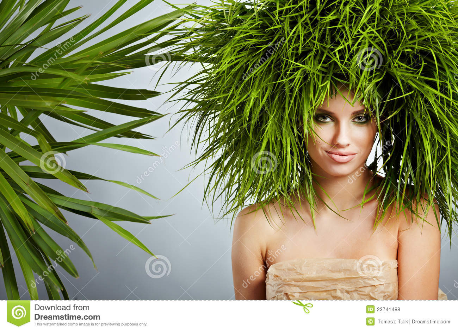 Donna di ecologia, concetto verde