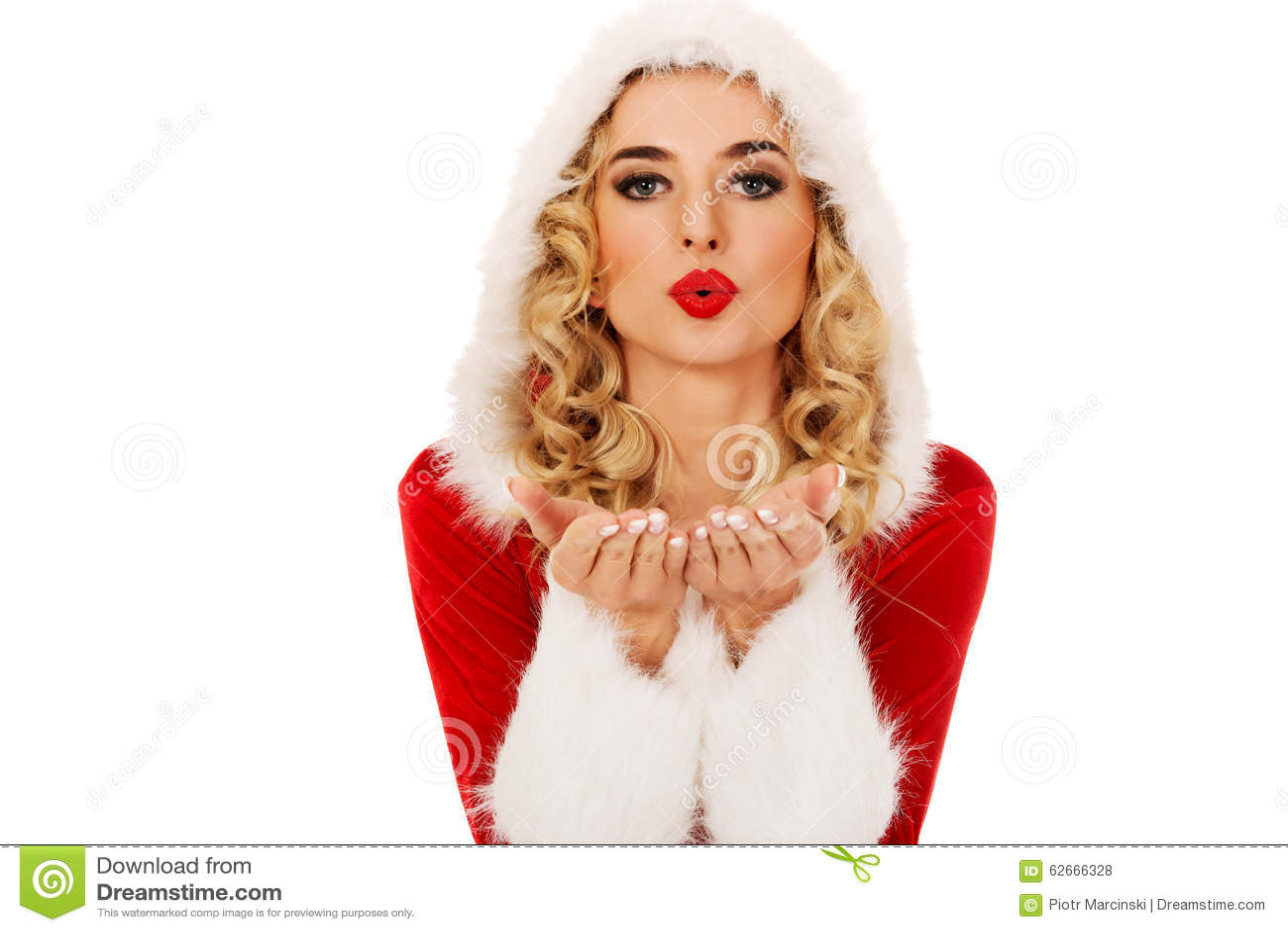 188ab4261fbc Donna Di Santa Che Invia Un Bacio O Un Colpo A Disposizione ...
