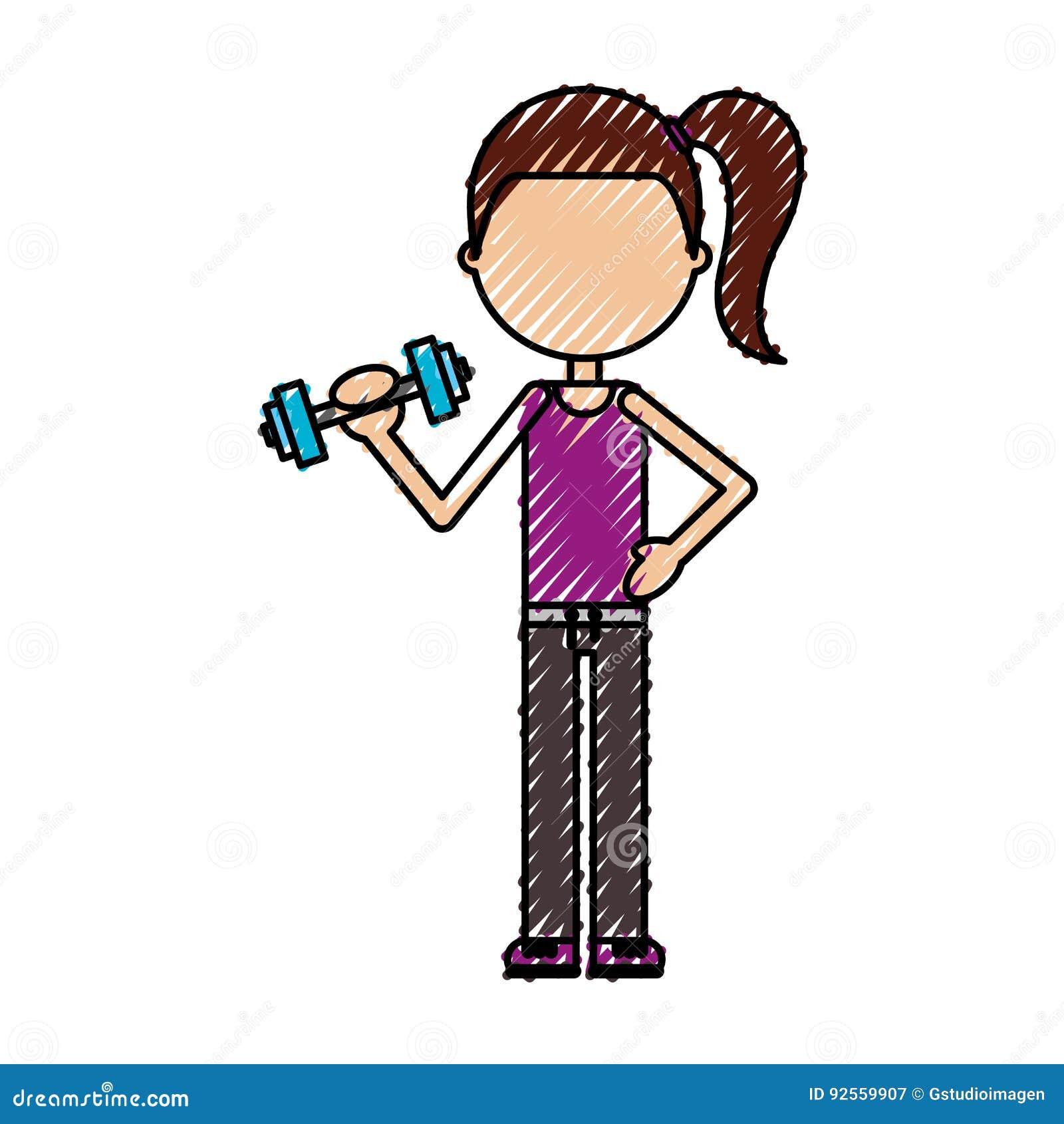 Donna di sollevamento pesi