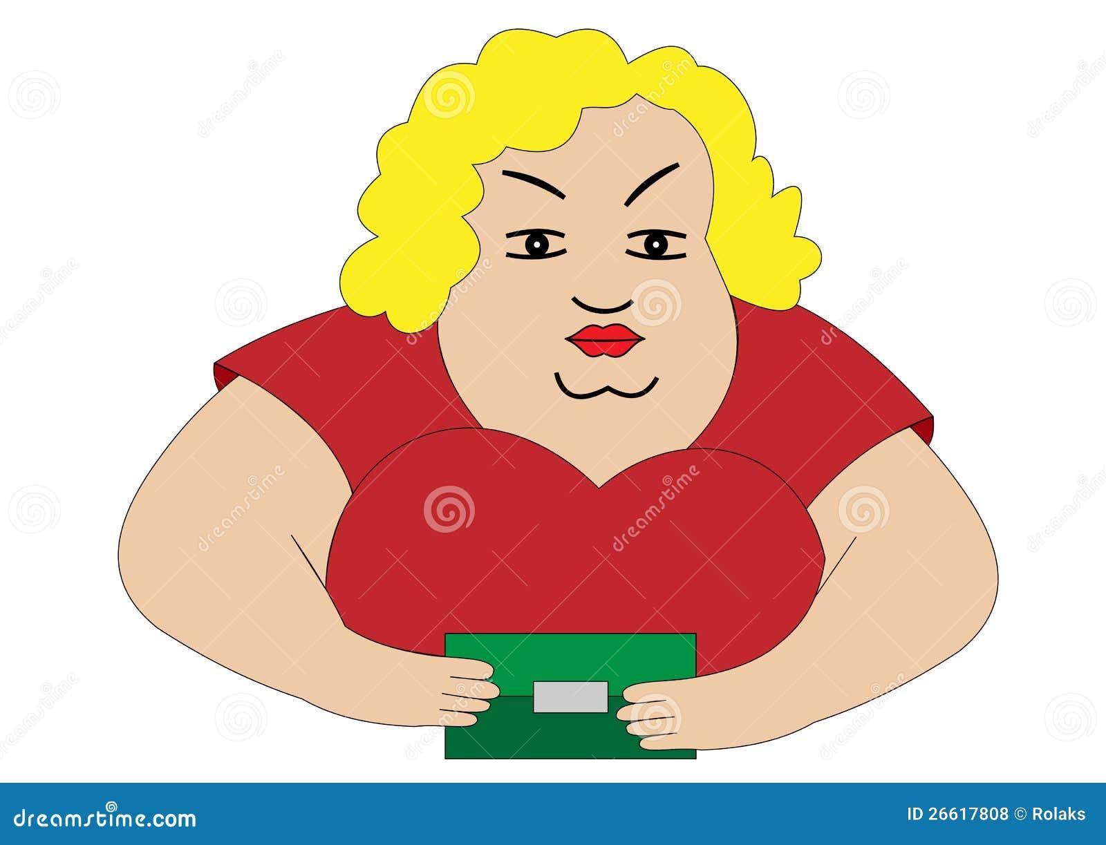 Donna grassa illustrazione di stock. Illustrazione di ...