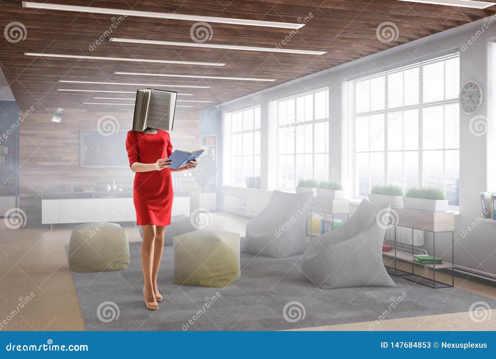 Donna intestata libro Concetto di efficienza di affari Media misti