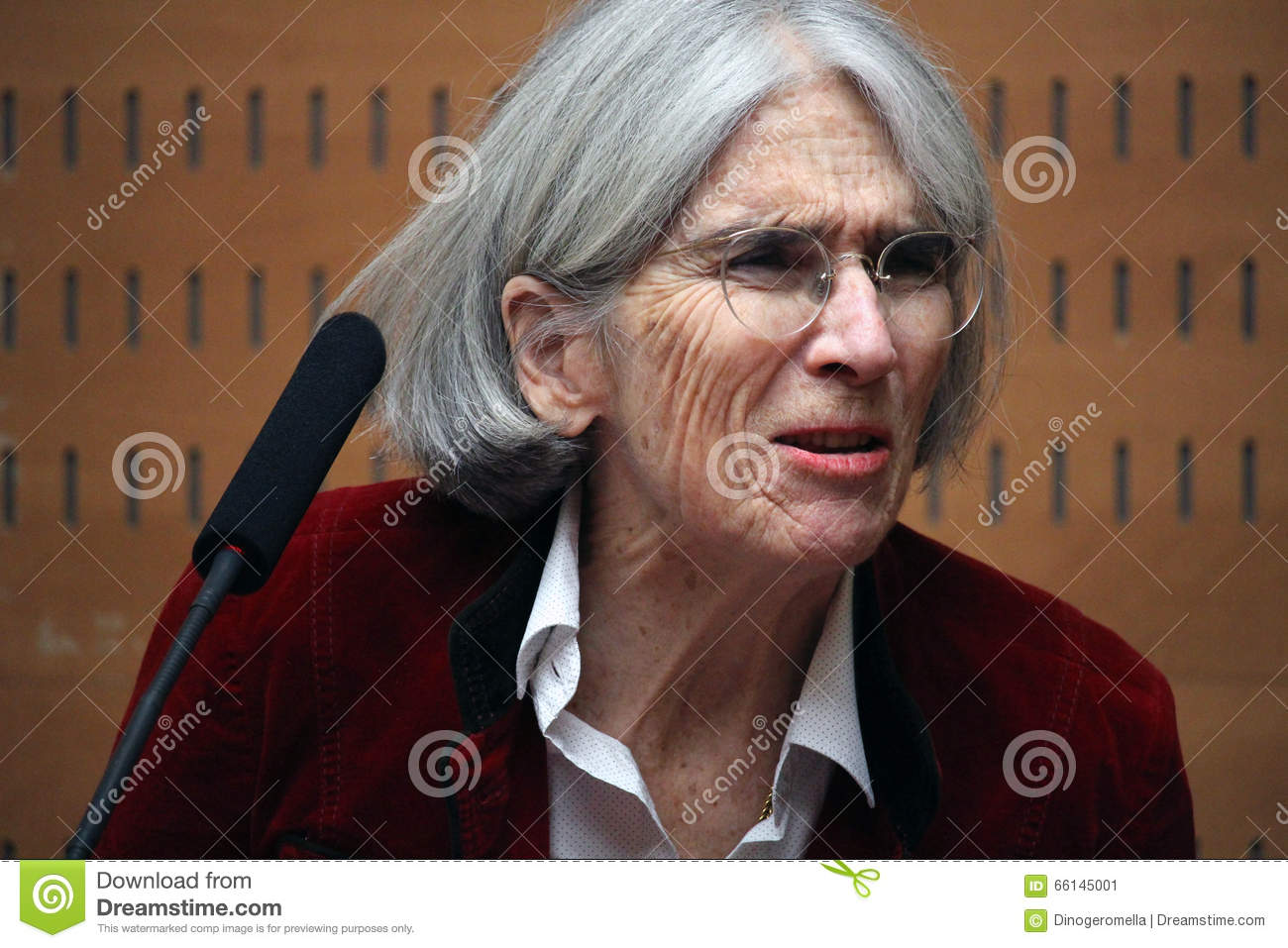 Donna Leon About Her Last Novel Editorial Photo Image