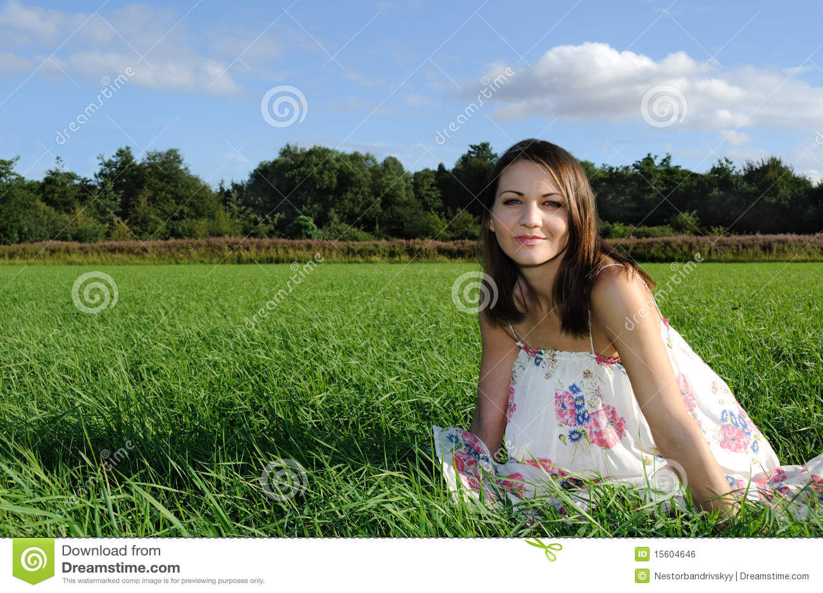 Donna nel campo